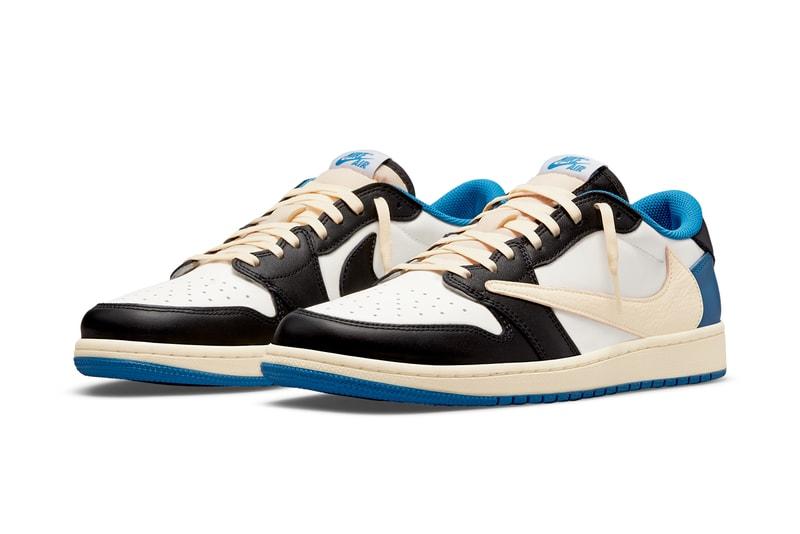 Official Images of the Travis Scott x fragment design x Air Jordan 1 Low