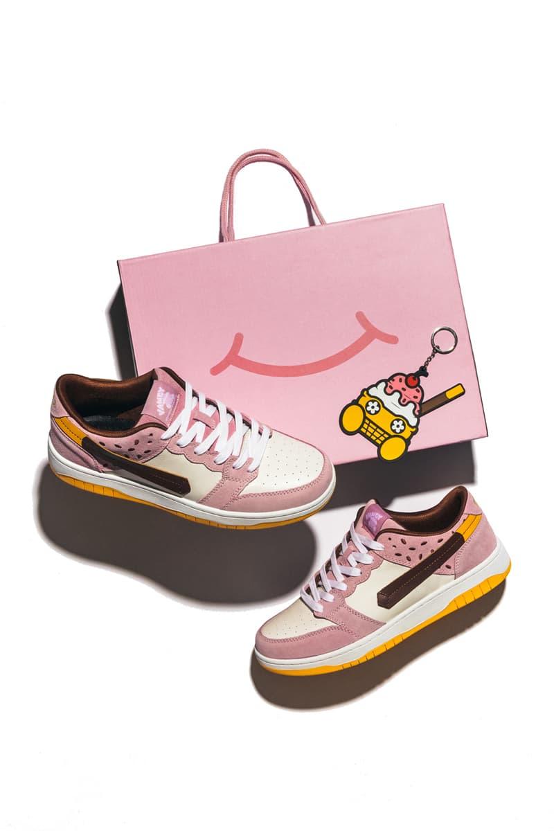 vandy the pink hbx ice cream sneakers colección de alfombras peluche blanco amarillo marrón rosa fecha de lanzamiento oficial información fotos precio lista de tiendas guía de compra