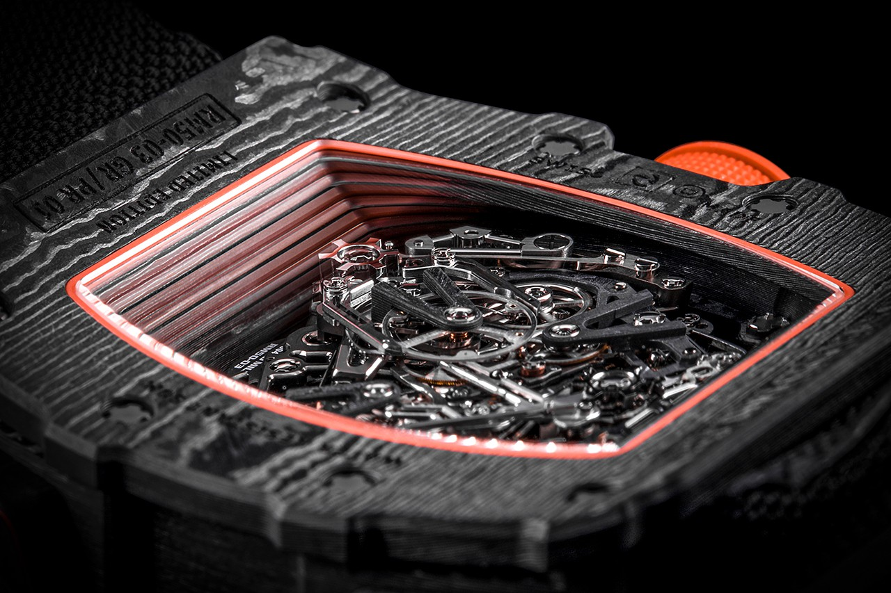 Richard Mille TPT Cases Watches Watch Wrist Check What the Tech HYPEBEAST Exclusive Interview Deep Dive Expensive Time Pieces Bezel Clock Dial Strap Boats RM 009 ALUSIC Thin Ply Technology