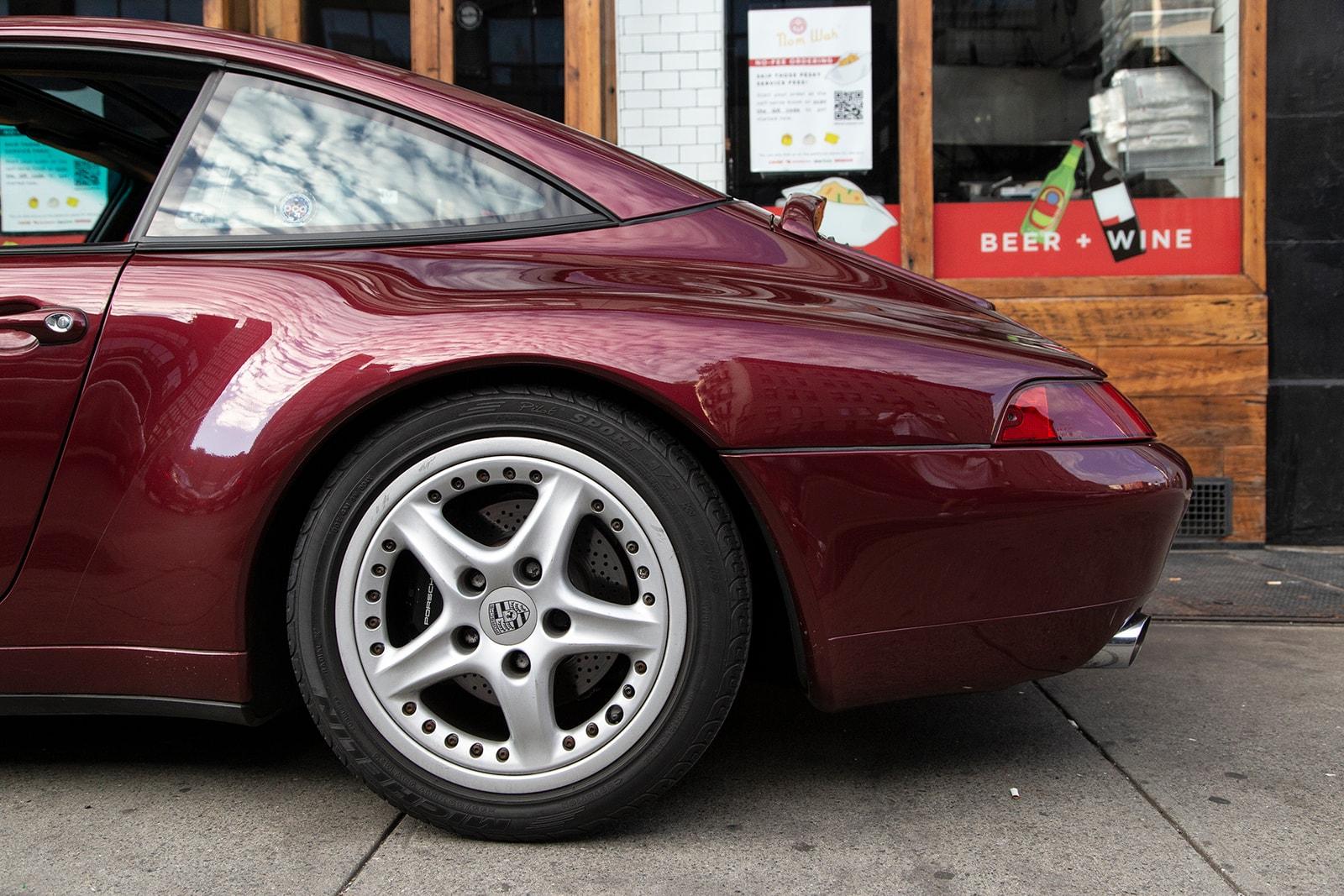 Wilson Tang of Nom Wah's Porsche 911 Targa 993 tea parlor drivers hypebeast car club maroon burgundy