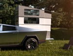 You Can Now Order a Compact Camper Attachment for the Tesla Cybertruck