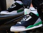 """Here's an On-Foot Look at the Air Jordan 3 """"Pine Green"""""""