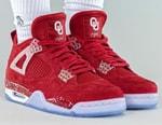 "Take an On-Foot Look at the Air Jordan 4 PE ""Oklahoma Sooners"""