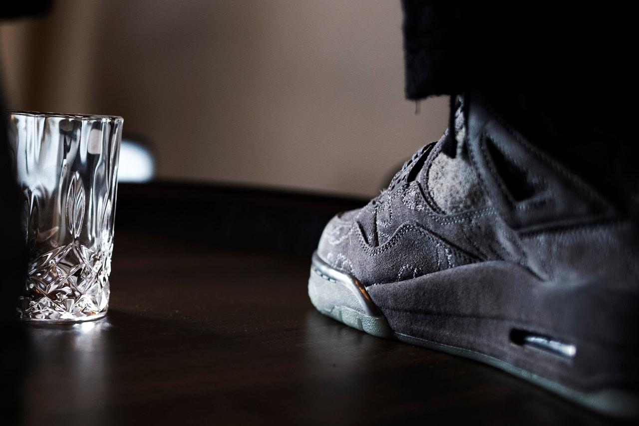 Aitch Manchester UK Rappeur GSD Freestyle Rain Learning Curve Sole Mates KAWS Air Jordan 4 Entretien Nike Gris Retro OG HYPEBEAST