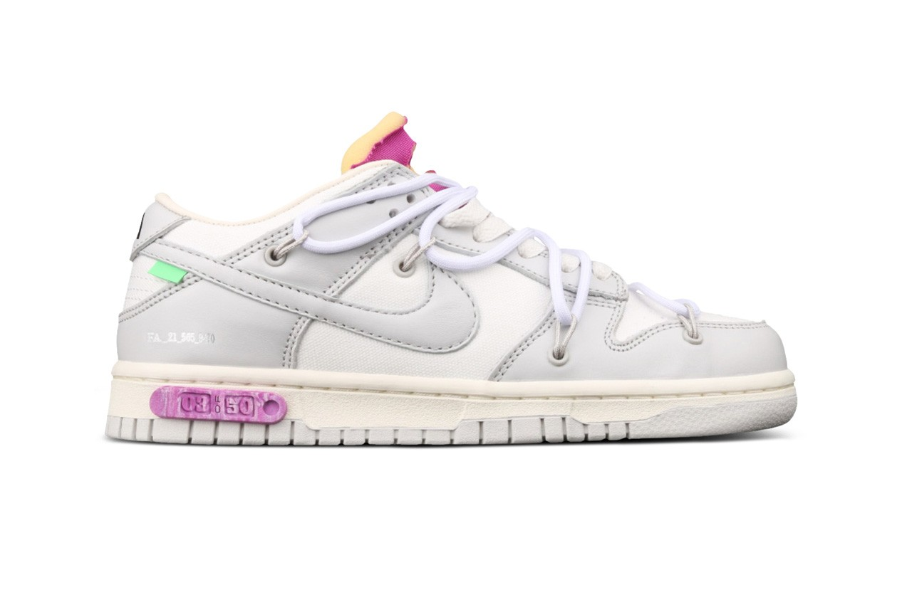new off-white nike dunk low white grey black tag dear summer Off-White x Dunk Low