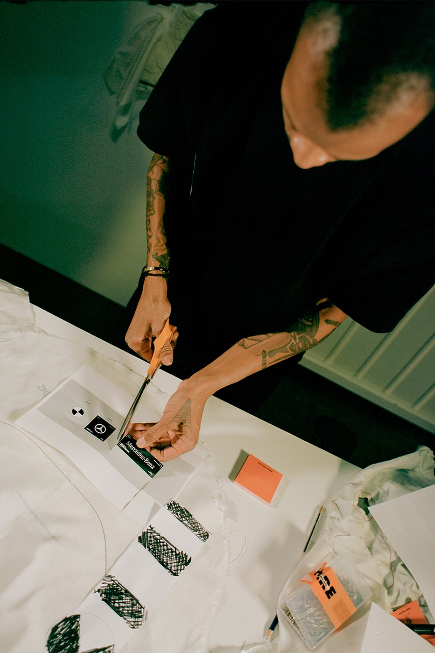 Heron Preston x Mercedes-Benz Collaboration 40 Anniversary Airbags Sustainability Reworked Capsule Collection Culture Cars Fashion Designer Exclusive Interview