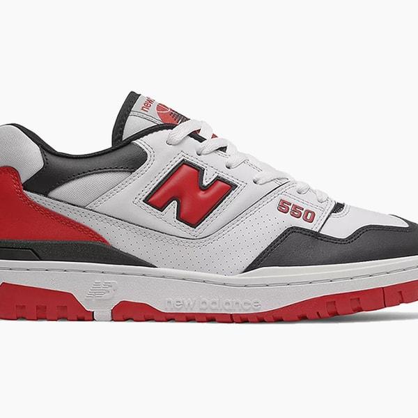 "New Balance 550 ""White/Team Red"""