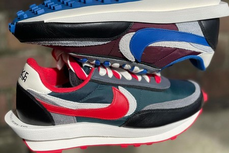 """Closer Looks at the sacai x UNDERCOVER x Nike LDWaffle """"Midnight Spruce"""" and """"Night Maroon"""""""