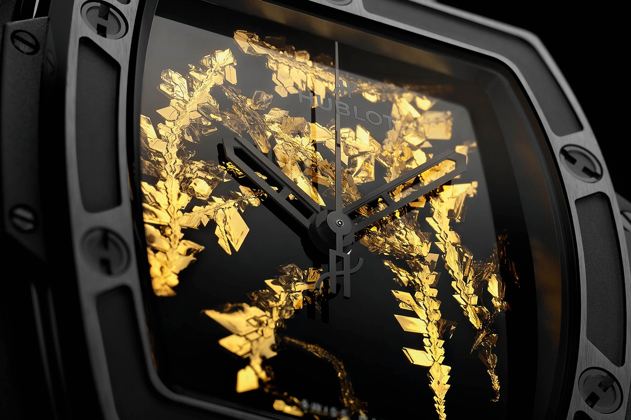 Hublot Makes a Show of Rare Gold Crystal Recreated In Its Labs With Pair of Limited Editions.