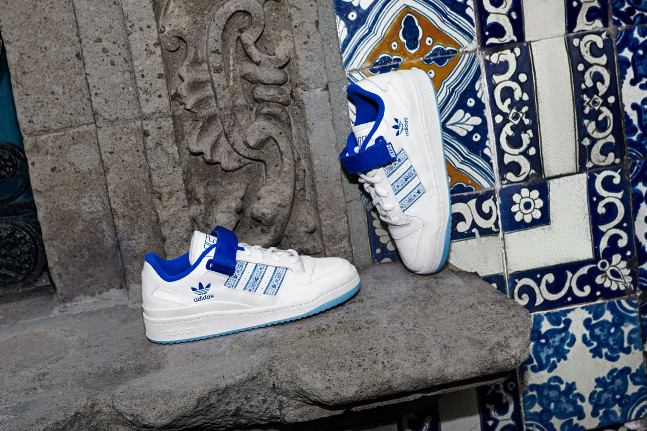 adidas originals juanpa zurita forum mexico city low top sneaker blue white