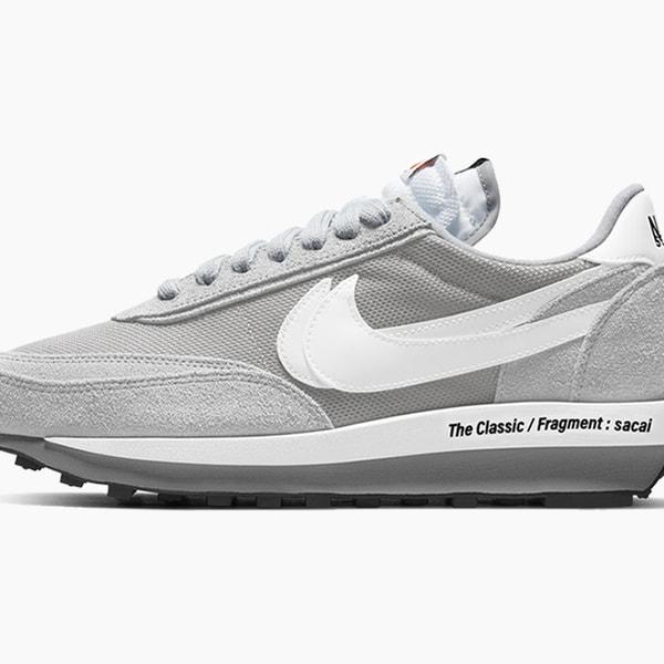 "fragment design x sacai x Nike LDWaffle ""Light Smoke Grey"""