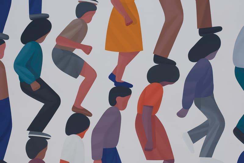 "Geoff McFetridge ""Sleeping Shapes"" Half Gallery NYC"