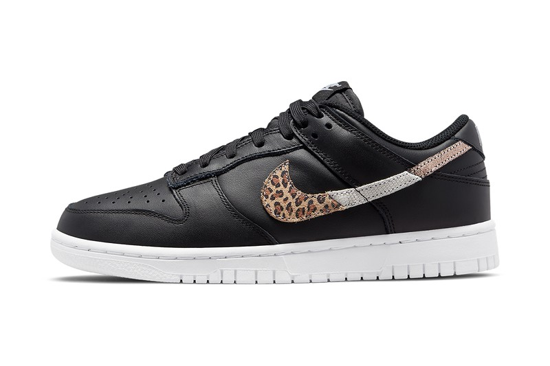 Nike Applies Various Animal Patterns to the Swooshes of These Dunk Lows