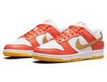 This Nike Dunk Low Mixes Orange Overlays With Gilded Swooshes