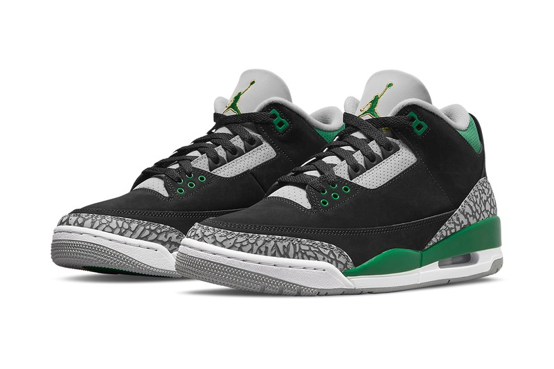 """Official Images of the Air Jordan 3 """"Pine Green"""""""