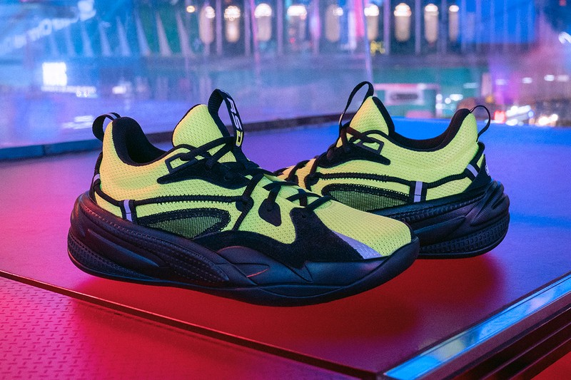"""J. Cole's PUMA RS-DREAMER """"Lime Green"""" Nods to Times Square's Neon Lights"""