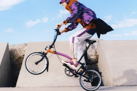 KENZO Rides With Brompton For Exclusive Fold-Up Bicycle