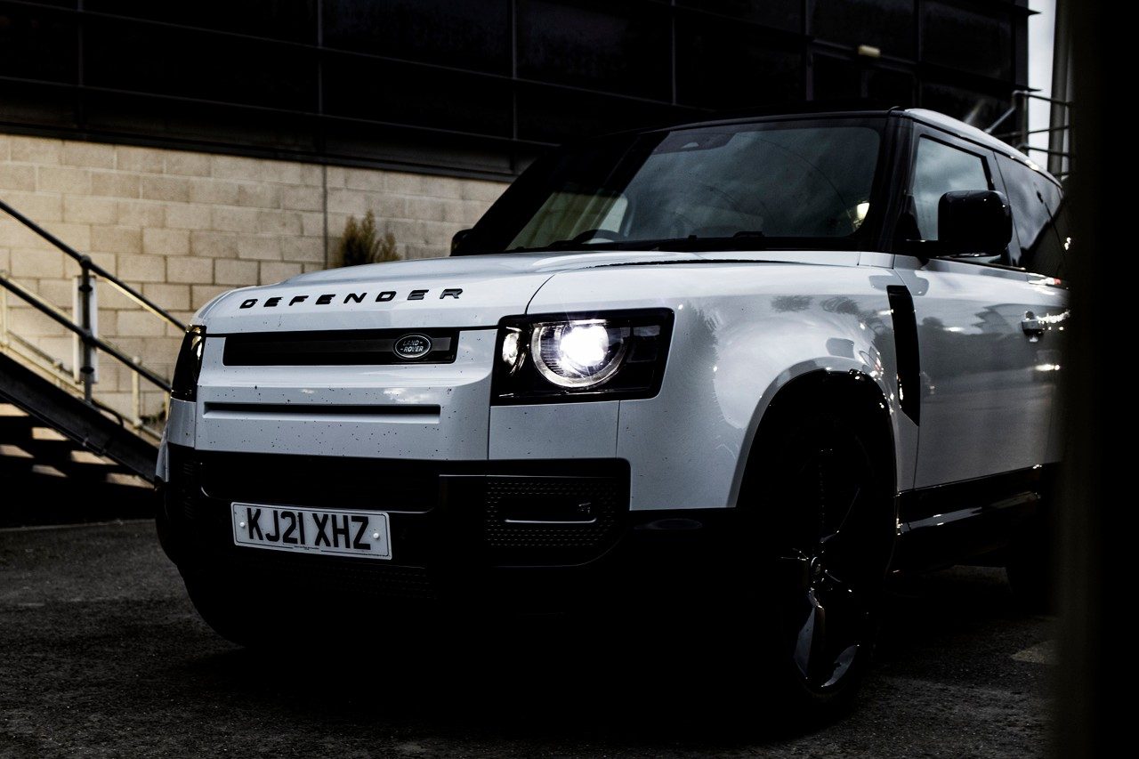 Land Rover Defender 90 V8 Driven Test Drive On Road Field Off-Roading Supercharger 4x4 SUV British Fuel Crisis Petrol Review First Look