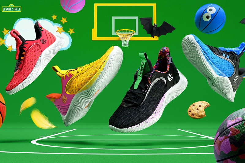 """Curry Brand Unveils Its Curry Flow 9 """"Street Pack"""" With Sesame Street"""