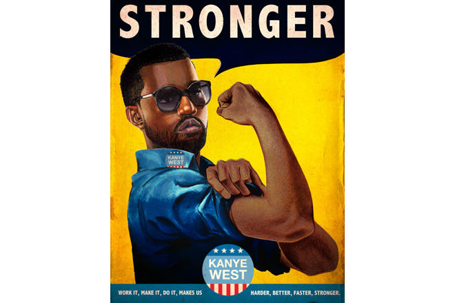 artist re imagines vintage posters with kanye west jay z pharrell