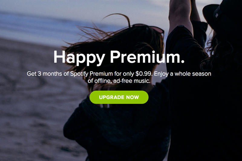 Spotify Offers 3 Months of Premium Service for $0 99 | HYPEBEAST