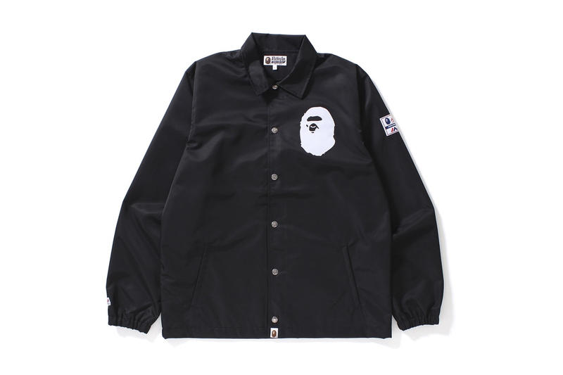 BAPE A Bathing Ape Majestic Coach Jacket Noir 93
