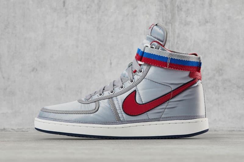 Nike Vandal High Supreme OG Argent Métallique Rouge Bleu