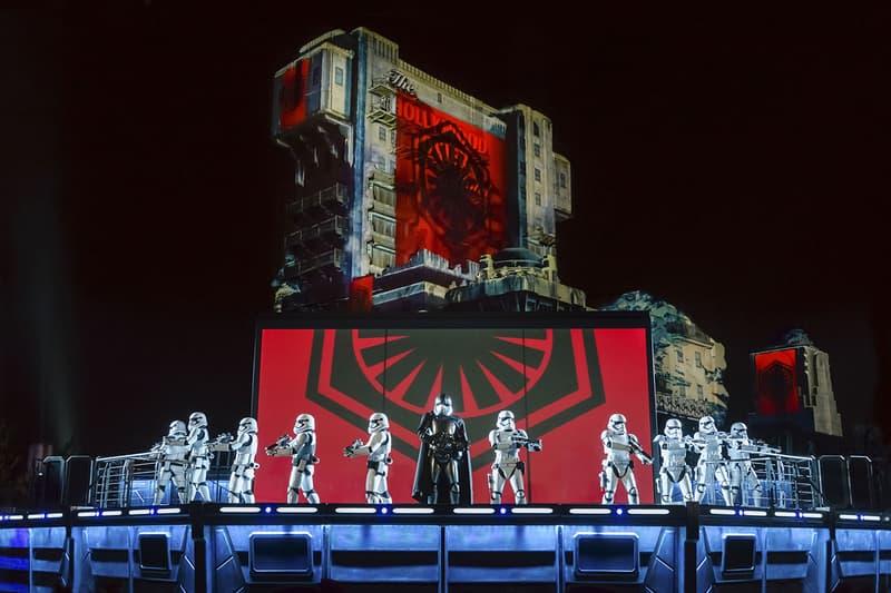 Projection Star Wars Hollywood Tower Dark Vador Stormtrooper Disneyland Paris