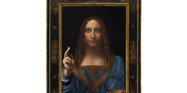 """Vente Aux Enchères """"Salvator Mundi"""" Leonard da Vinci Par Christie's"""