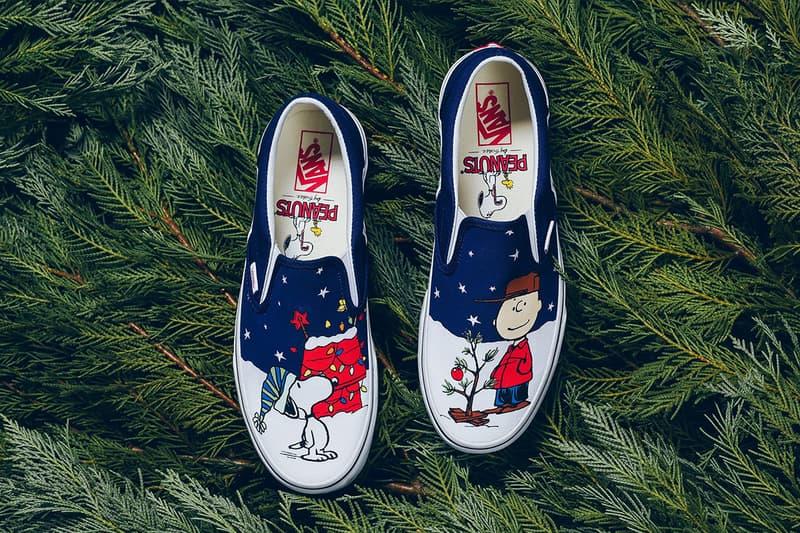 Vans Slip-On Peanuts Joyeux Noël, Charlie Brown ! Sapin