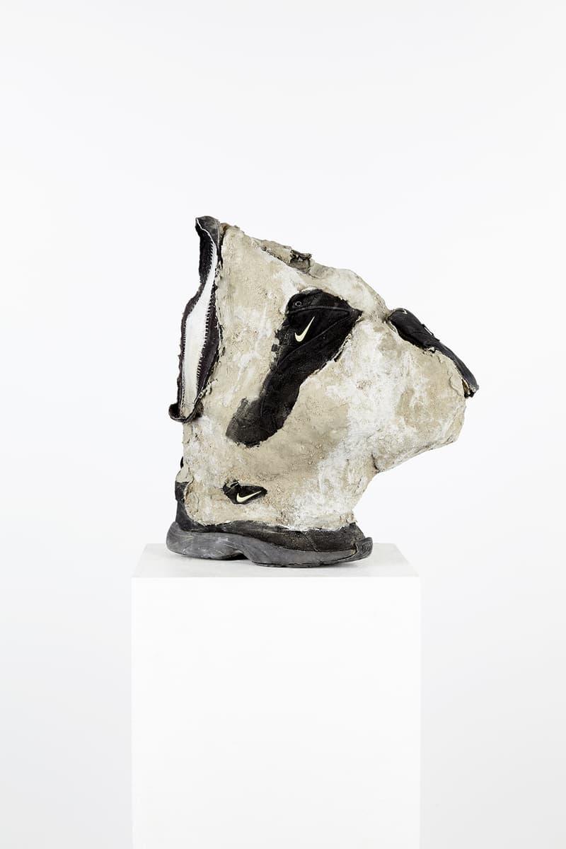 Mathilde Schöbiz Sculpture Sneakers Compression Béton