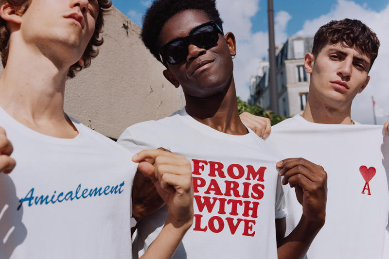 """Tee-shirt AMI """"From Paris With Love"""" Et """"Amicalement"""""""