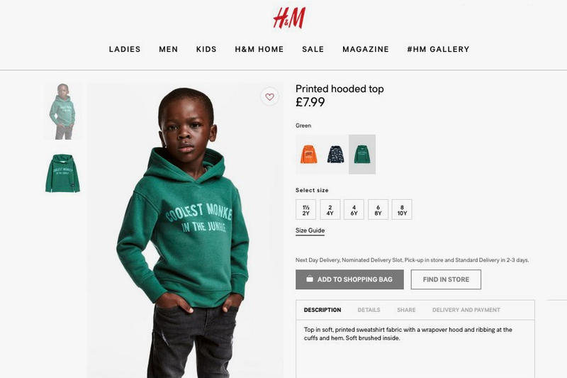 "Sweat H&M ""Singe le plus cool de la jungle"" Polémique"