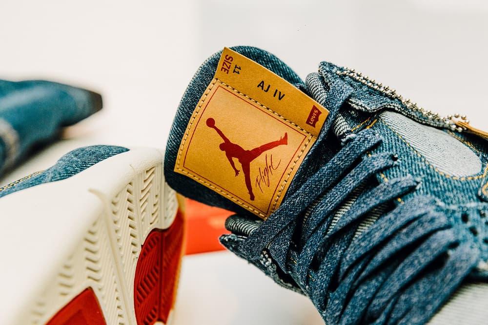 Jordan Brand Levi's Air Jordan 4 Veste Jean Réversible Flight Suit