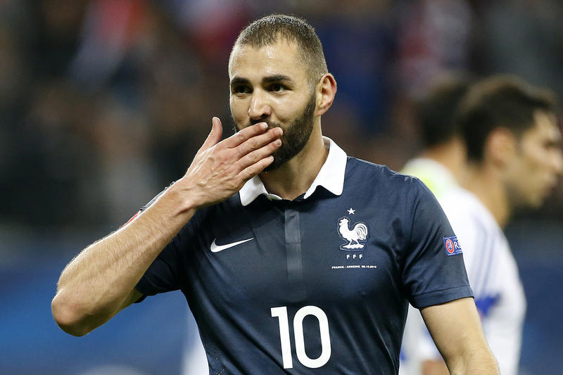 Karim Benzema Équipe De France Célébration But Arménie Allianz Riviera Nice