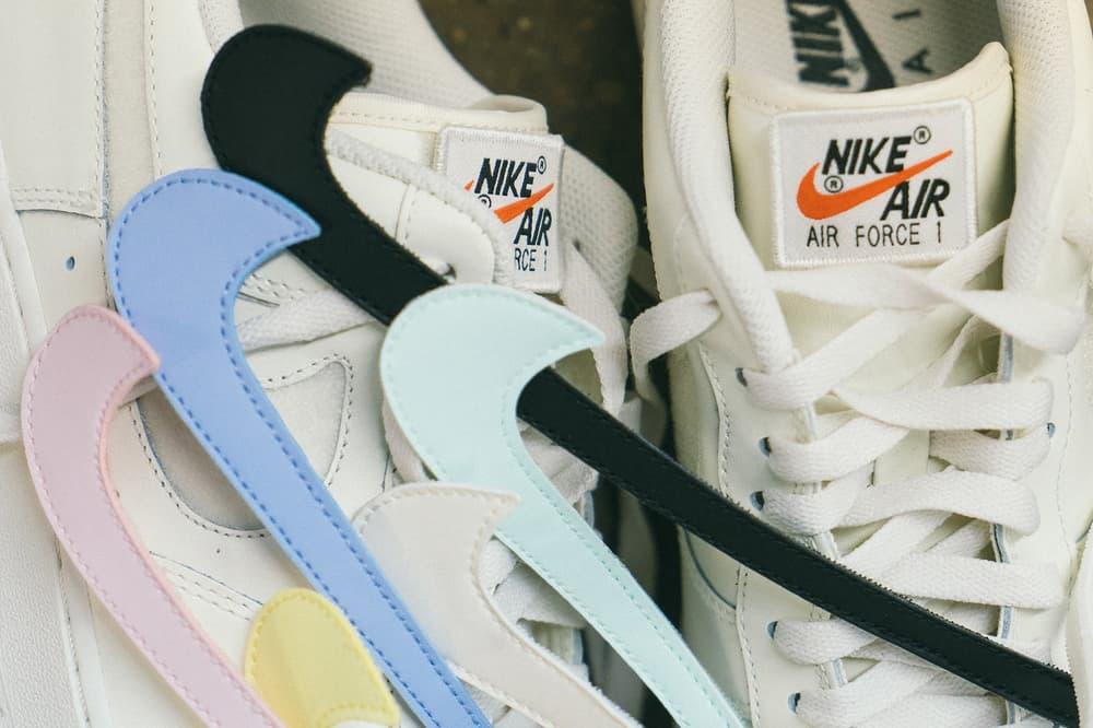 "Gros Plan Sur La Nike Air Force 1 ""Swoosh Pack"""