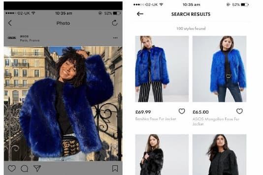 ASOS Style Match Recherche Visuelle Application Mobile iOS Google Play
