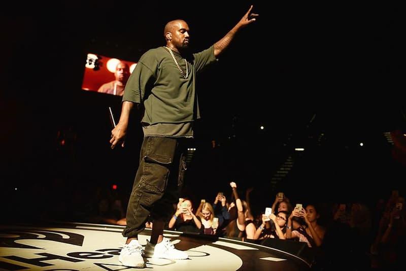 Portrait De Kanye West Sur Scène