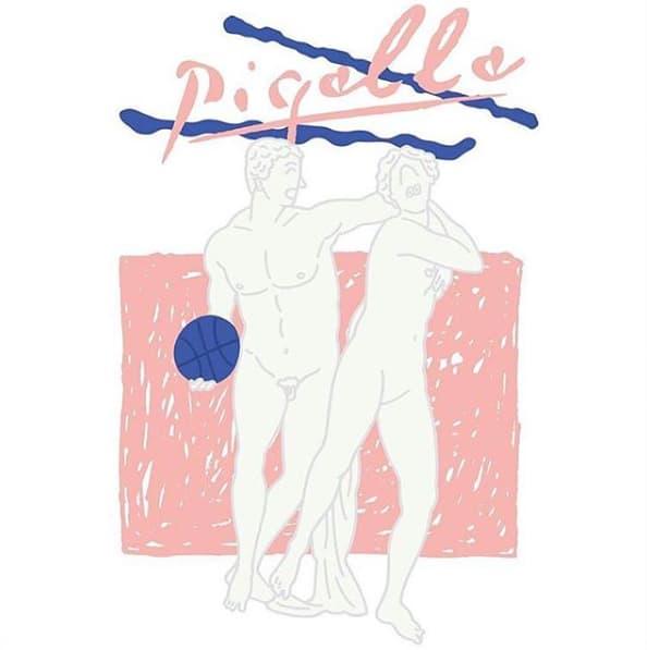Illustration Pigalle Bleu Rose