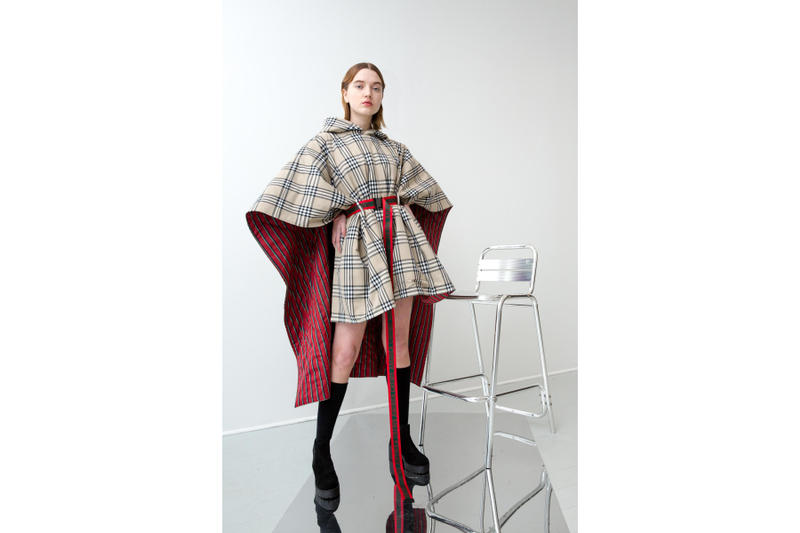 andrea crews, collection, automne, hiver, 2018, tartan, burberry