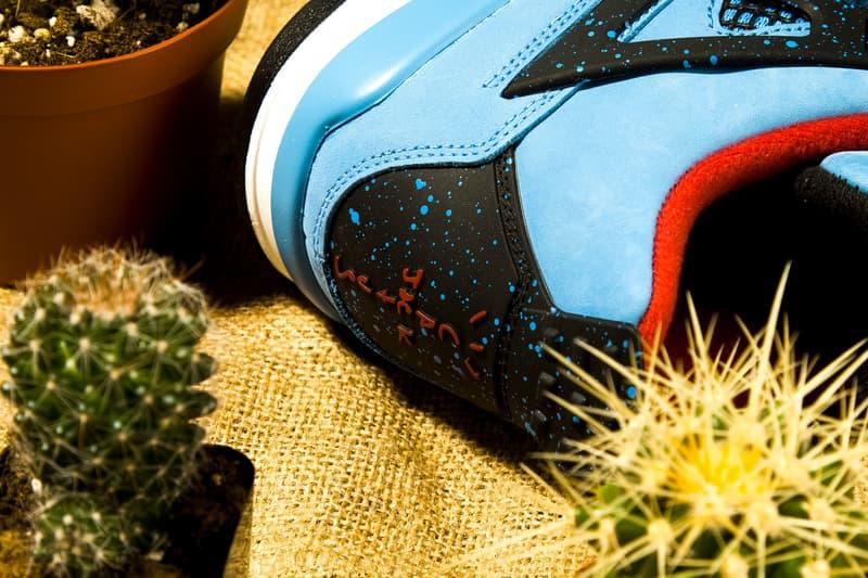 Air Jordan 4 Travis Scott Bleu Noir Rouge
