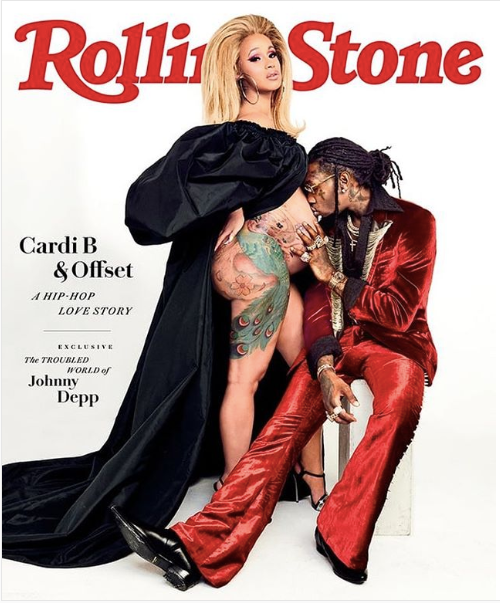 Cardi B & Offset Cover Magazine Rolling Stone