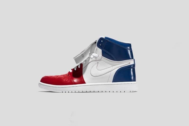 jordan bleu blanc rouge