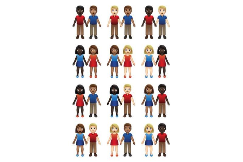 Apple EMojis Couple 55 combinaisons genres peau