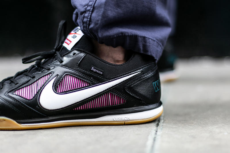 Supreme Nike SB Gato Black Gros plan