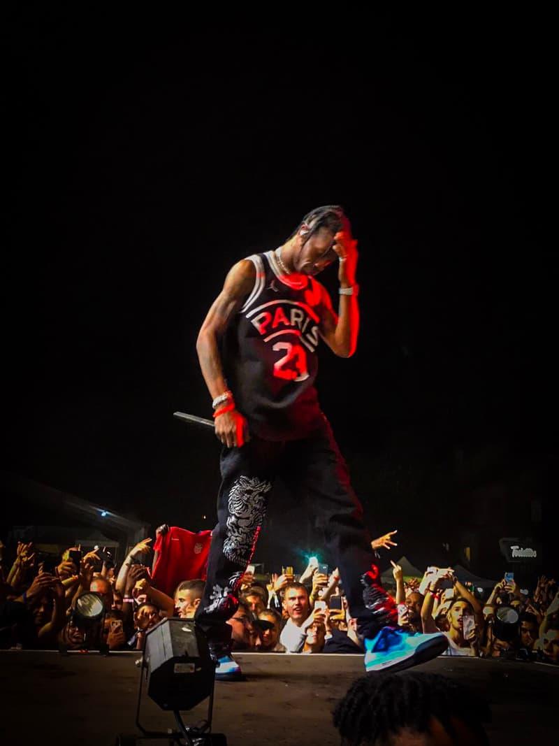 Photo De Travis Scott En PSG x Air Jordan