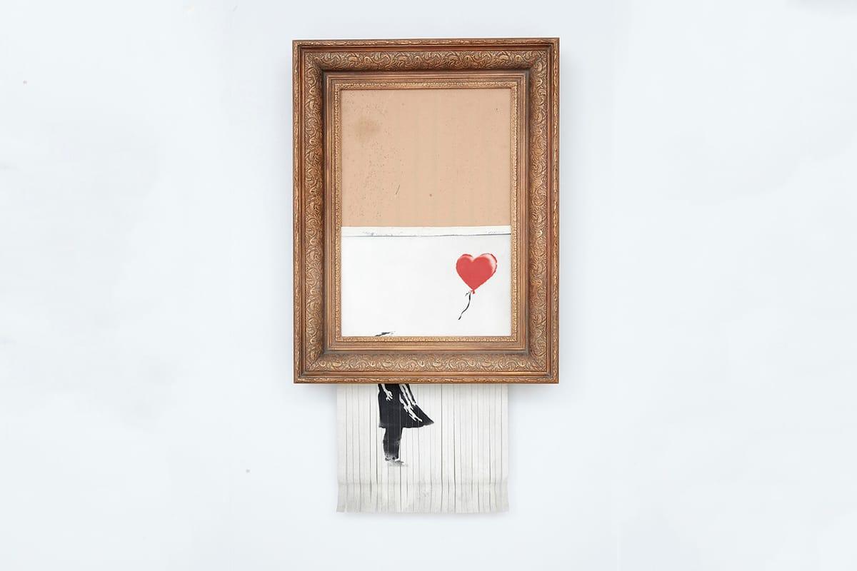 Banksy Révèle Comment, À Distance, Il A Enclenché La Destruction De Son Œuvre (Vidéo)