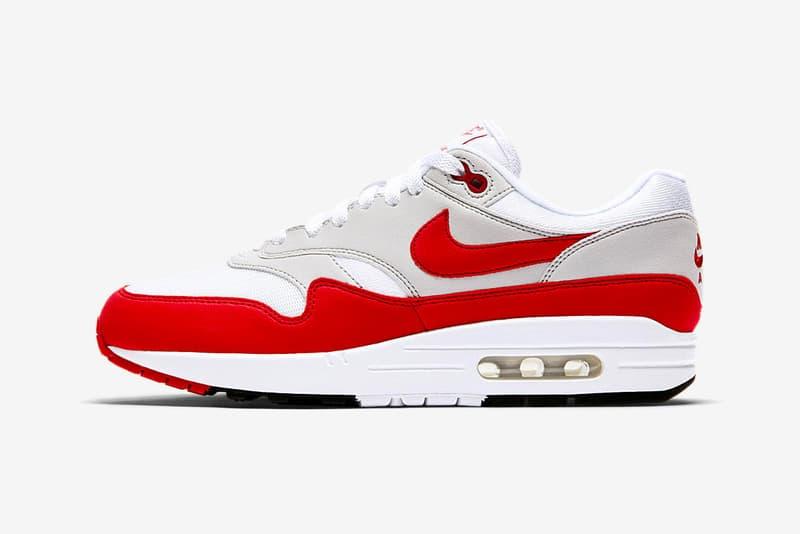 02ad3342e2349b Nike Air Max 1 Anniversary University Red Restock date de sortie images