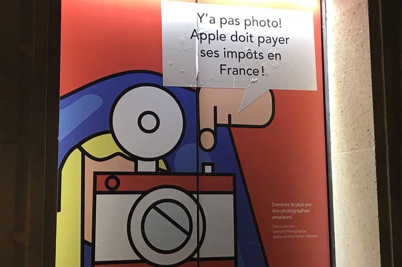 Apple Store Champs Élysées Attac publicités détournées