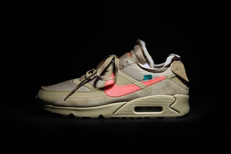 "Photos Des Off-White™ x Nike Air Max 90 ""Desert Ore"" Et ""Black"""